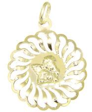 Guardian Angel Pendant Gold 585/14 Carat Large round Pendant