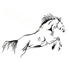 Black Jumping Horse Art Sticker Vinyl Decal Car Window Bumper Glass Wall Decor