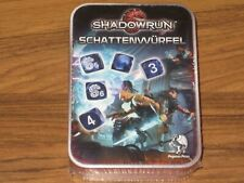 Shadowrun Schattenwürfel Metalldose Würfelset blau Pegasus Spiele 2017 Neu OVP