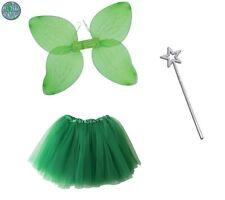 Peter Pan Fairy Angel Tinkerbell Fairy Wings TuTu & Wand Fairy Tale Fancy Dress