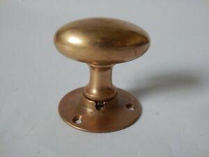 Reclaimed Antique Vintage Solid Brass Oval Door Knob Handle Pull #1585