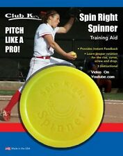 SPIN RIGHT SPINNER Fastpitch Pitching Training Aid Baseball Softball Yellow