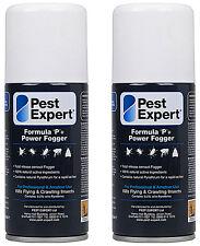 Flea Fogger (x2) Pest Expert 50% Larger (150ml) for a more powerful treatment)