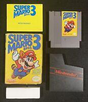 Super Mario Bros 3 Nintendo NES CIB tested original authentic