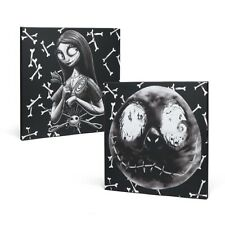 Nightmare Before Christmas Canvas Set Wall Art Jack & Sally Licensed NEW