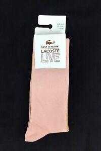 NEW Lacoste x Golf Le Fleur Live Crew Socks Brown Light Pink Mens Size 6-9 Tyler