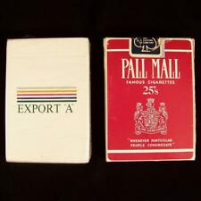 New Export A Deck & Open Pall Mall Playing Cards 1986 Cigarettes Advertising Lot