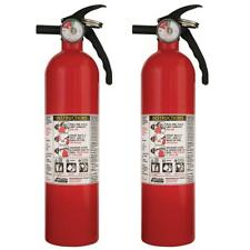 Recreational Fire Extinguisher 1-A:10-B:C Rating 2-Pack Home Work School Safety
