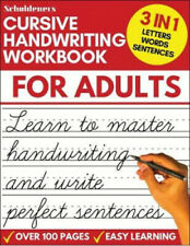 Cursive Handwriting Workbook for Adults by Scholdeners Paperback