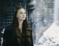 SOPHIE TURNER SIGNED 11X14 PHOTO GAME OF THRONES AUTHENTIC AUTOGRAPH BAS COA E