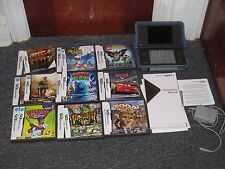 Nintendo DSi XL Black/Bronze with 8 Games Instruction Manual Nerf Case