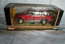 Redbox 1998 Lincoln Navigator Ford Die Cast Red Car Model 1/24 Scale