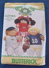 "16"" Vintage Cabbage Patch Doll Sewing Pattern 6827 Boy Girl Athletic Sports wear"
