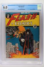 Flash Comics #21 - DC 1941 - CGC 6.0 - Classic cover! Full page ad All Flash #1!