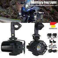 2x LED Zusatzscheinwerfer Nebelleuchte+Gitter+Kabelbaum Für BMW R1200GS F800GS