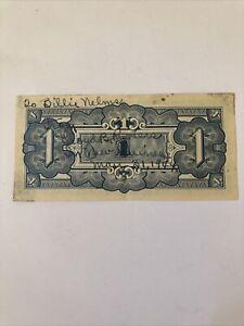 Oceania Japanese Invasion 1 Shilling 1942 Short Snorter