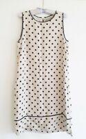 Marella By Max Mara Size 16 Linen Polka Dot Dress