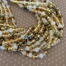 150 beads Czech Glass Beads 4.1mm Honey Butter SB6-MIX22