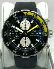IWC Aquatimer Stainless Steel Chronograph 45mm Men's Diver Rubber Strap Watch