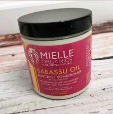 New MIELLE ORGANICS Babassu Oil & Mint Deep Hair Conditioner 8 fl oz