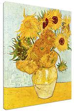 Quadro Moderno Arredamento Arte Van Gogh I Girasoli Arredo Casa Stampa su Tela