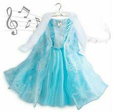 Halloween Disney's Frozen Princess Elsa Singing Musical Costume Gown Dress 9/10