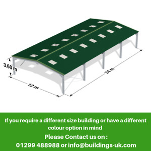 Steel Frame Kit Building 80ft x 40ft x 12ft