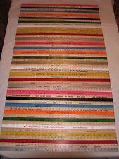55 Yardstick Wood Wooden Ruler Lot Advertising Sign Color Art Craft Hobby