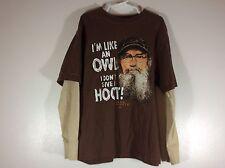 Boys T-shirt size 8 medium duck dynasty brown long sleeve 39