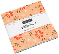 "Walkabout Moda Charm Pack 42 100% Cotton 5"" Precut Fabric Quilt Squares"