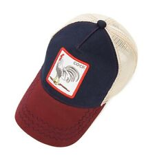 Cock Snapback Trucker Baseball Cap Adjustable Animal Farm Embroidery Animals Ha