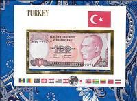 E Banknotes of All Nations Turkey 1970 (1984)100 Lirasi  P-194a.1 UNC prefix B39