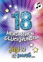 Geburtstagskarte mit Musik, Din A5 - Jetzt ist es soweit- Endlich 18