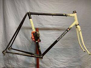John Hollands road bike frameset frame and fork vintage handmade in USA 54cm