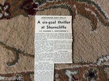 k1-6 ephemera 1966 football report e c rangers 3 northwood 3 hayton