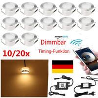 10/20x Set Wifi Kontroller 45mm LED Einbaustrahler Terrasse Garten Lampe Dimmbar