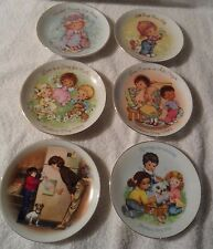 "set of 6 Avon 5"" Mothers Day collector plates 1981-1989 porcelain/22kt gold trim"