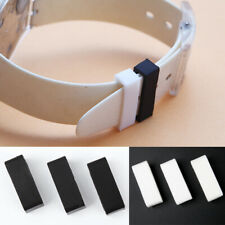 2pcs Watch Strap Band Loops PVC Silicone Replacement Holder Retainer Ring Supply