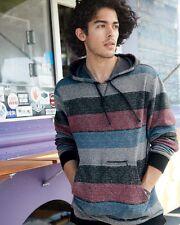 Burnside Printed Striped Fleece Sweatshirt B8603