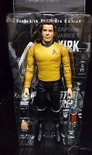 STAR TREK EXCLUSIVE PREMIERE EDITION capitano James T Kirk con attrezzi della Flotta Stellare Nuovo!