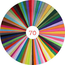 70PCS  Assorted Color Wool Felt Fabric Sheets Patchwork Sewing DIY Craft 15*30cm