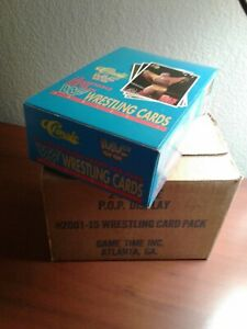 1990 Classic WWF Wrestling Unopened Wax box 36 packs fresh from case Hulk Hogan?