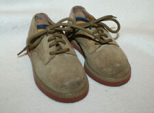 Toddler Boy Stride Rite Tan Brown Suede Lace Up Bucks Dress Shoe Size 6.5 M