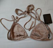 CoSTUME NATIONAL BRA ~ BRONZE SIZE IT 40 / UK S (VISCOSE) MADE IN ITALY RRP £120