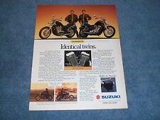 "1987 Suzuki Intruder 700 VS700GL Vintage Ad ""Identical Twins"""