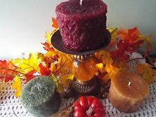 """GORGEOUS Grubby Pillar Candles-Full 3x5""""Tall-Your Choice of Color & Fragrance"""