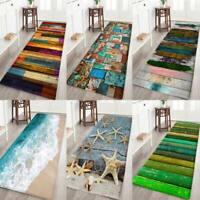3D Print Thick Flannel Non-slip Kitchen Floor Mat Door Mat Bath Area Rug Carpet