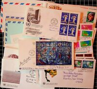 BANCES CIGAR BOX FULL OF MINT UN STAMPS FROM THE 60s AND 70s WITH COVERS AND MIS