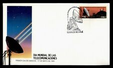 DR WHO 1991 CHILE FDC TELECOMMUNICATIONS SPACE CACHET  g01134