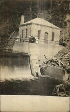 Power House & Falls & People - Taberg NY on Back c1910 Real Photo Postcard